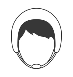 Man wearing helmet icon vector