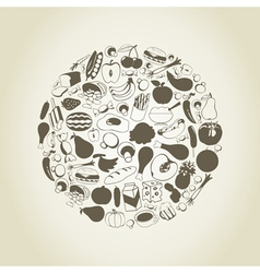 Meal a sphere vector image
