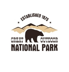 National park retro style badge Mountain explorer vector image vector image
