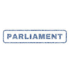 parliament textile stamp vector image