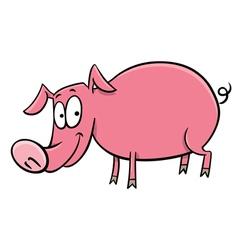 pig cartoon character vector image vector image