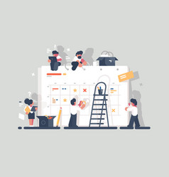 planning and organization of tasks on board vector image