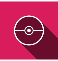 Pokeball icon isolated vector