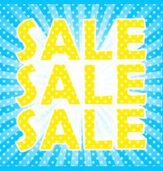 Pop art sale poster vector
