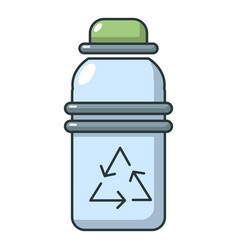 purified water bottle icon cartoon style vector image