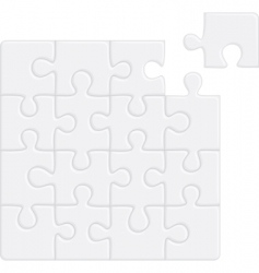 puzzle pattern removable vector image