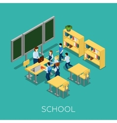 School and learning vector