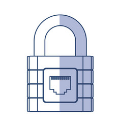 Shadow padlock cartoon vector