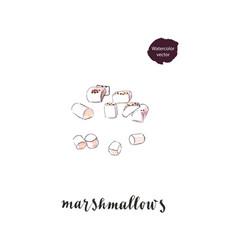 Sweet white marshmallows vector