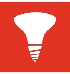 The halogen bulb icon Lamp and bulb lightbulb vector image vector image