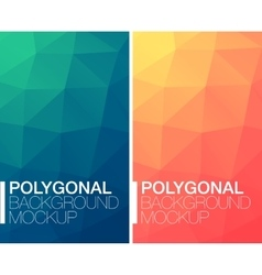 Vertical polygonal banners vector image vector image