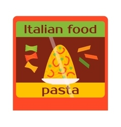 Italy food shop showcase vector