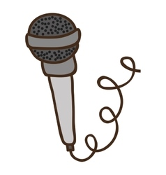 Microphone with cord vector