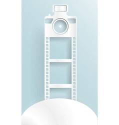 Abstract background photo camera paper vector