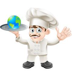 chef globe concept vector image