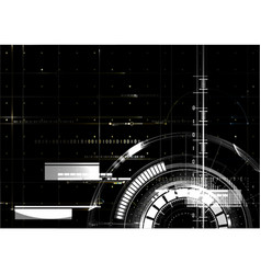 Technological space white hud background abstract vector