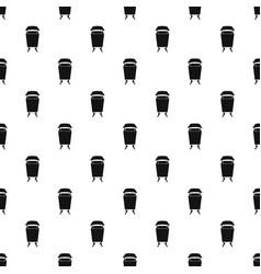 litter waste bin pattern vector image
