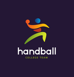 Handball sign abstract colorful silhouette vector