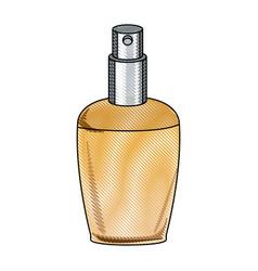 draw elegant female perfume glamour aroma vector image