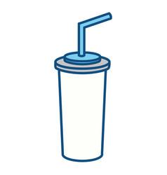 Soda beverage in the cinema movie scene vector