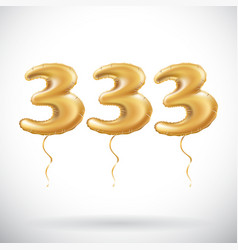 333 anniversary celebration with brilliant gold vector