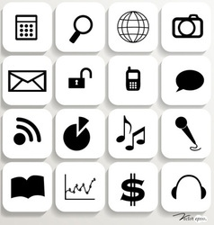 Application icons design set 6 vector