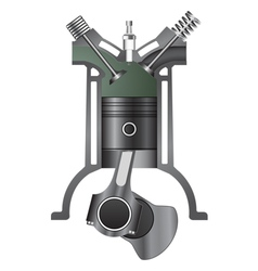 Four stroke engine-exhaust vector