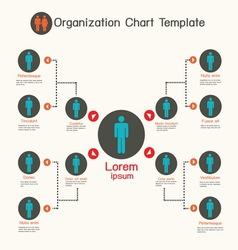 Organization chart template business presentation vector