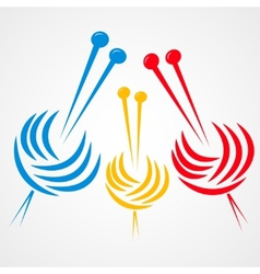 Knitting needles vector