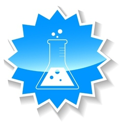 Experiment blue icon vector