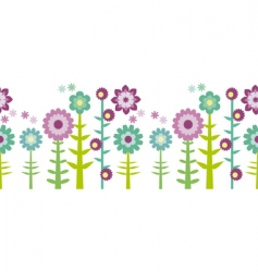 Flower pattern border vector