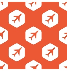 Orange hexagon plane pattern vector