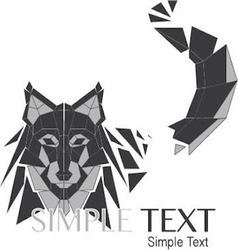 Geometric wolf logo or husky 01 vector