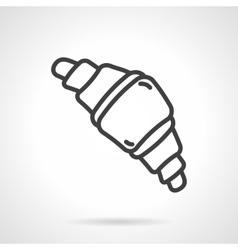 Croissant black line design icon vector