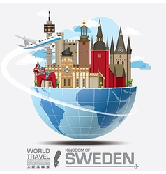 Sweden landmark global travel and journey vector
