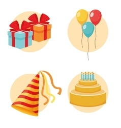 Party design celebration icon colorfull vector