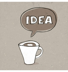 Cup of idea vector