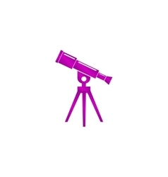 Telescope icon flat design style vector