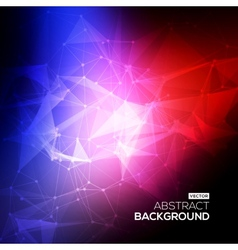 Abstract Low poly Molecule And Communication vector image vector image