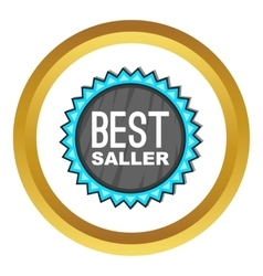 Best seller badge icon vector