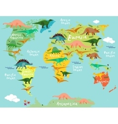 Cartoon map vector image
