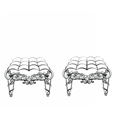 Chair furniture in classic rococo style vector