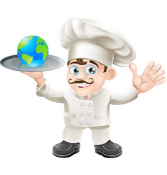 chef globe concept vector image vector image