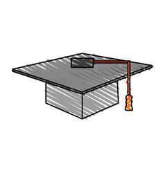 color crayon stripe image cartoon gray graduation vector image