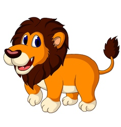 cute lion cartoon walking vector image