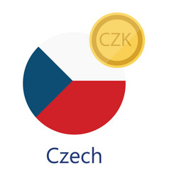 Czech flag and currency vector