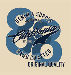 denim supply union made california vector image