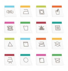 fabric care symbols vector image vector image