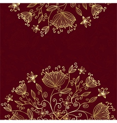 floral card red vector image