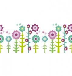 flower pattern border vector image